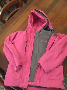 Campera Columbia interior polar reversible y desmontable