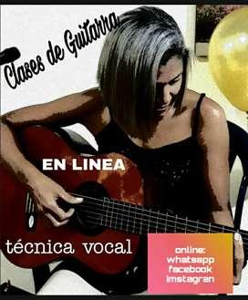 Clases de guitarra y vocalización virtual