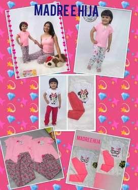 Pijamas para dama y niños