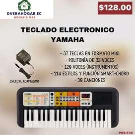 Teclado electrónico yamaha 37 teclas en formato mini polifonia de 32 voces 120 voces (instrumentos)