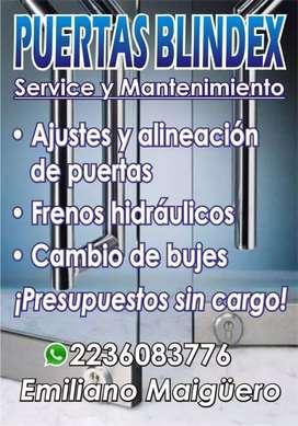 Service puertas blindex