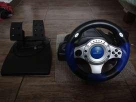 Volante PC PS2 PS3 con Pedalera EUROCASE
