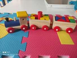 Tren en madera encajable