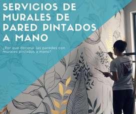 Servicios de murales de pared pintados a mano