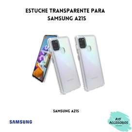 Estuche Para Samsung A21S Transparente Rígido
