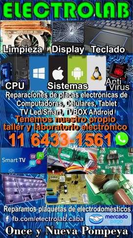 Reparaciones de computadora, tablet, celulares y smartv