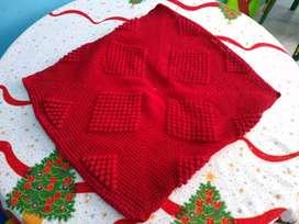 Forro de cojín sala crochet