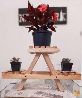 Soporte para plantas suculentas ,de aire e interiores