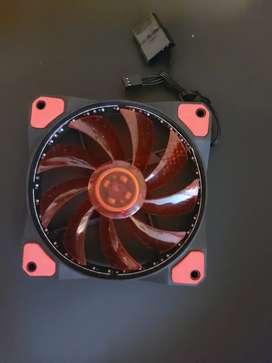 Cooler de 12 (120 mm) rojo led