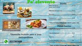 Snacks - Catering - Refrigerios
