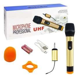 Microfono Dinamico Inalambrico Profesional Uhf Pantalla Lcd
