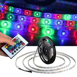 Tira Led RGB 5mts. 50/50 con Control Remoto y Trafo