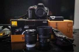 camara nikon d5300 lente kit mas lente 50mm