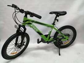 Bicicleta 20 Fnx Shimano 21 Velocidades Cuadro Aluminio Suspencion