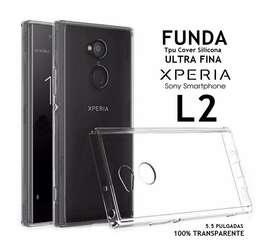 Estuche Silicona + Vidrio Templado Sony Xperia L2