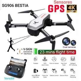 Drone Sg906 Beast Cámara 4k Dual Gps Sensores Estuche 25 Min maleta UP