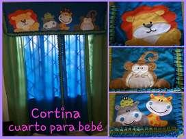 Lenceria, Toldillo, Cortina y Barandas para cama cuna  bebe