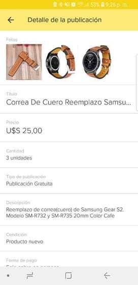Reemplazo Samsung Gear S2 Cuero