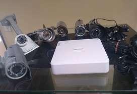 Kit Hikvision Dvr 1080 8ch + 6 Cámaras 1080p +accesorios