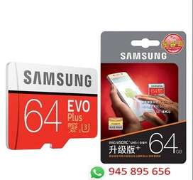 Samsung Evo Plus 64Gb Memoria Micro Sd Clase 10 U3 4k 100 Mb/s