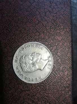 Monedas ley 0.900 plata sterlina colombia