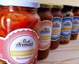 """Delicatessen y Conservas naturales """"Aromas""""."""