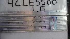 TIRAS LED LG LE 5500 de 42 pulgadas probada