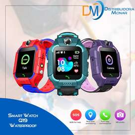 Reloj Inteligente Q19 Niños Impermeable Smart Watch Agua Q12