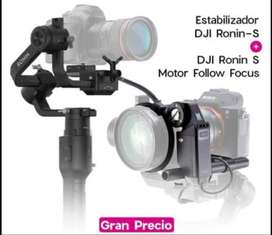 Estabilizador Ronin-S y Follow Focus DJI