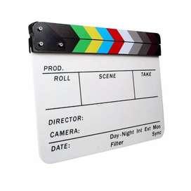 Claqueta para filmación profesional de cine documental comerciales