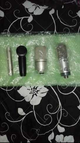 Micrófonos unidad o combo MXL R144, 991 y SHURE PGA 181