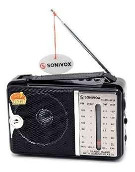 Radio Sonivox de AM/FM, reproductor de MP3 y control remoto NUEVO