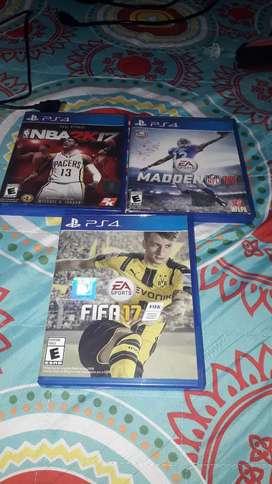 Vendo 3 juegos ps4