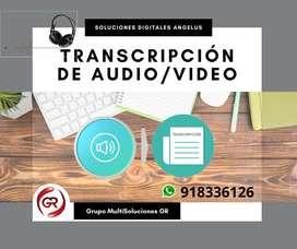 Transcripción de audios y videos a Word