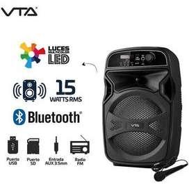 Amplificador Recargable 15W Rms Micrófono Y Luces Vta