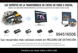 REPARACION Y CONVERSIONES DE VHS A MP4 - DVD - 10.00 SOLES NO PAGUES MAS