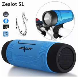 Altavoz Linterna Bicicleta Bluetooth Sd Fm Power Bank