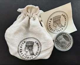 Moneda de 10000 pesos || Conmemoración del Bicentenario de la independencia americana