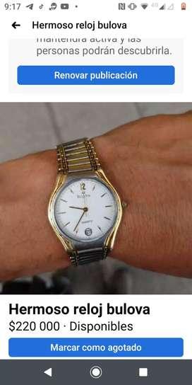 Reloj bulova 5 joyas maquinaria ronda