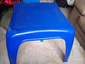 Mesa comedor de 4 sillas color azul
