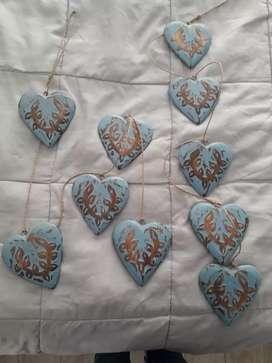 Guirnalda de corazones ,las 2 importadas
