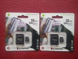 MicroSD de 16GB Clase 10 Kingston y Sandisk