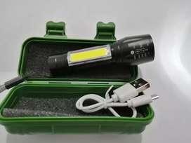 Mini linterna recargable con cable USB de Luz led .