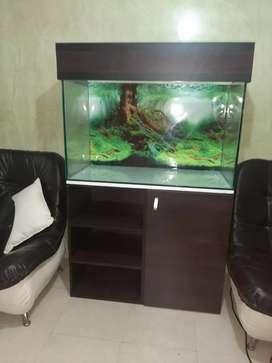 Acuario con mueble vidrio templado nuevo