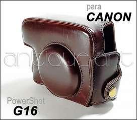 A64 Estuche Cuero Canon G16 Powershot Case Protector G15 G7