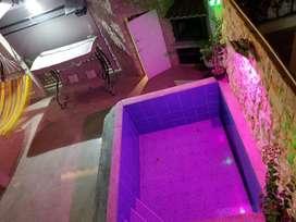 Alojamiento vacacional en Salinas, Con área de parrilla y piscina Privada