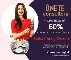 Venta por catálogo digital de productos ESIKA, L'BEL Y CYZONE