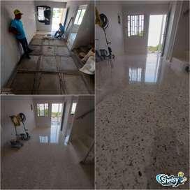 Hacemos pisos de granito vaciado, hechura pulido y acabo final nos encargamos de todo