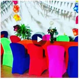 Sillas  plásticas vestidas para alquilar en Barranquilla