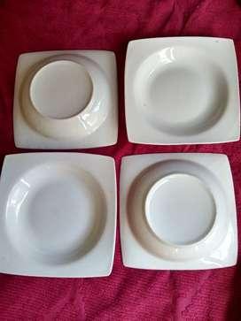 plato cuadrado hondo blanco 21 cm -NO es plastico